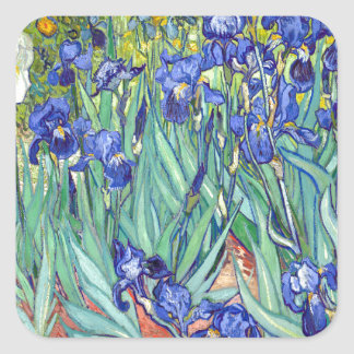 Vincent van Gogh 1889 Irises Square Sticker