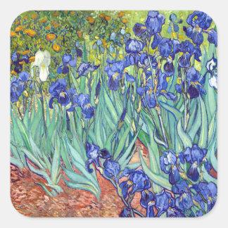 Vincent van Gogh 1889 Irises Square Sticker