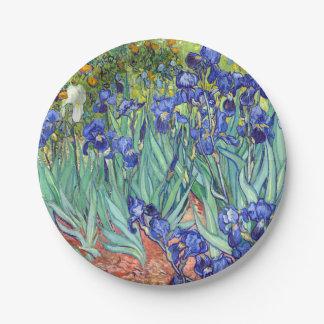 Vincent Van Gogh 1898 Irises Paper Plate