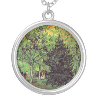 Vincent Van Gogh - A Lane In The Public Garden Silver Plated Necklace