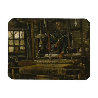 Vincent van Gogh - A Weaver's Cottage Rectangular Photo Magnet