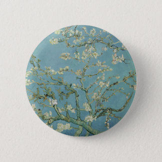 Vincent Van Gogh Almond Blossom Floral Painting 6 Cm Round Badge