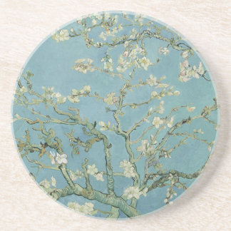 Vincent Van Gogh Almond Blossom Floral Painting Coaster