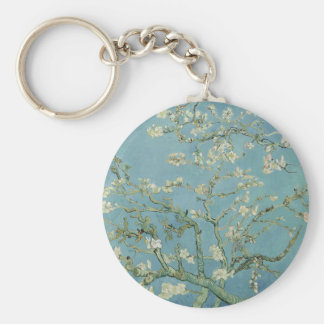 Vincent Van Gogh Almond Blossom Floral Painting Key Ring