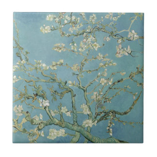 Vincent Van Gogh Almond Blossom Floral Painting Small Square Tile