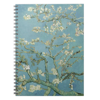Vincent Van Gogh Almond Blossom Floral Painting Spiral Notebook