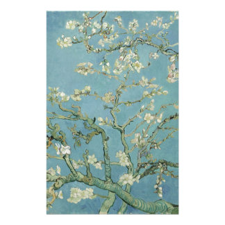 Vincent Van Gogh Almond Blossom Floral Painting Stationery