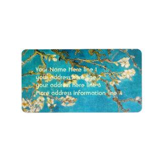Vincent van Gogh Almond Tree Address Label