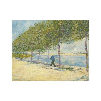 Vincent van Gogh - Along the Seine Canvas Print