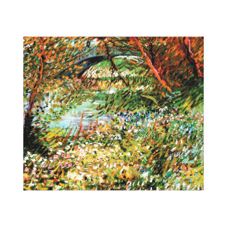 Vincent Van Gogh - Banks of the Seine in Spring Canvas Print