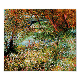 Vincent Van Gogh - Banks of the Seine in Spring Poster