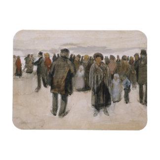 Vincent van Gogh - Beach at Scheveningen Rectangular Photo Magnet