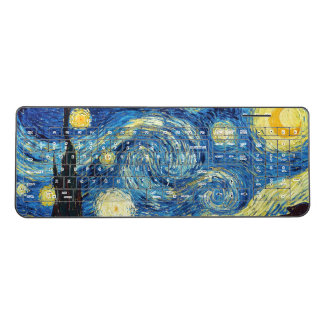 Vincent van Gogh Beautiful The Starry Night Wireless Keyboard