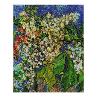 Vincent van Gogh-Blooming chestnut branches Poster