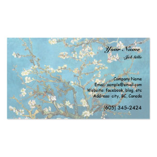 Vincent van Gogh, Blossoming Almond Tree Business Card Templates