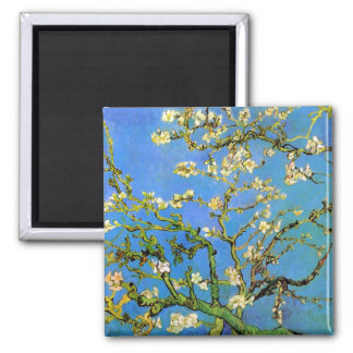 Vincent Van Gogh - Blossoming Almond Tree Fine Art Square Magnet