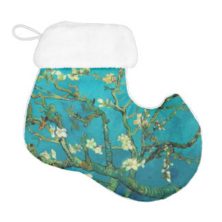 Vincent Van Gogh Blossoming Almond Tree Floral Art Elf Christmas Stocking