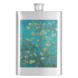 Vincent Van Gogh Blossoming Almond Tree Floral Art Hip Flask