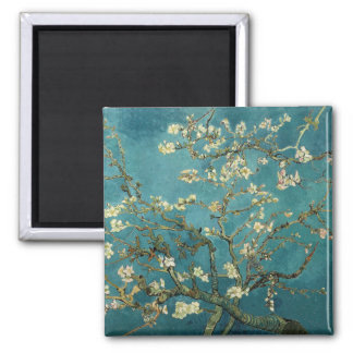Vincent Van Gogh -  Blossoming Almond Tree Square Magnet