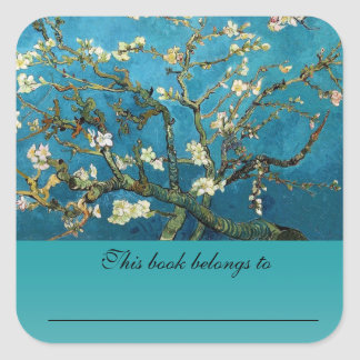 Vincent van Gogh, Blossoming Almond Tree Square Sticker