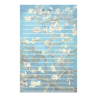 Vincent van Gogh, Blossoming Almond Tree Customized Stationery