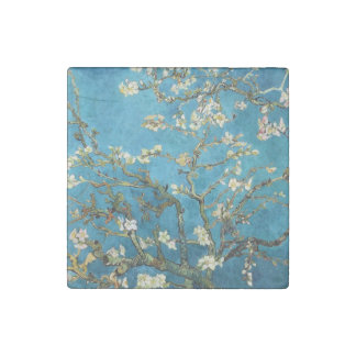 Vincent van Gogh, Blossoming Almond Tree. Vintage Stone Magnet