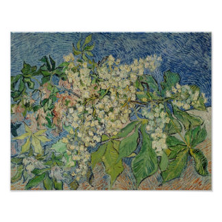 Vincent van Gogh | Blossoming Chestnut Branches Poster