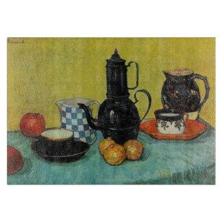 Vincent van Gogh Blue Enamel Coffee Pot Cutting Board