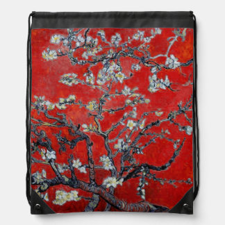 Vincent van Gogh | Branches with Almond Blossom Drawstring Backpack