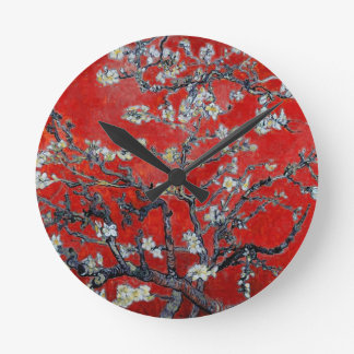 Vincent van Gogh Branches with Almond Blossom Wallclocks
