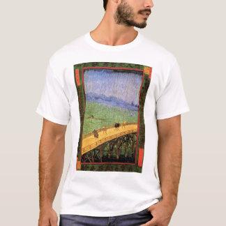 Vincent Van Gogh - Bridge In The Rain Japanese Art T-Shirt