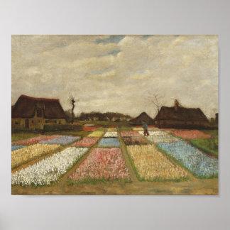 Vincent Van Gogh Bulb Fields Floral Vintage Art Poster