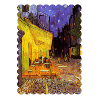 Vincent Van Gogh Cafe Terrace At Night Fine Art 13 Cm X 18 Cm Invitation Card
