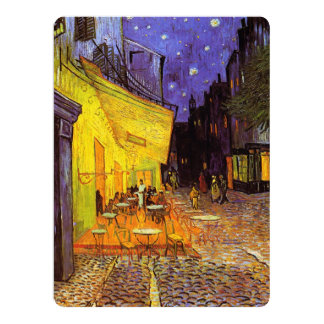 Vincent Van Gogh Cafe Terrace At Night Fine Art Invitation Card