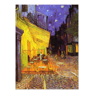 Vincent Van Gogh Cafe Terrace At Night Fine Art Personalized Invitation Card