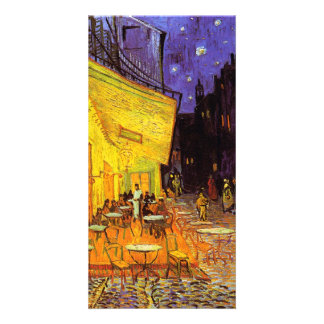 Vincent Van Gogh Cafe Terrace At Night Fine Art Photo Card Template