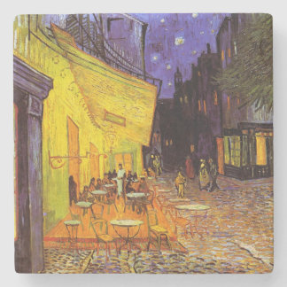 Vincent Van Gogh Cafe Terrace At Night Fine Art Stone Beverage Coaster