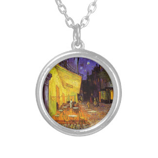 Vincent Van Gogh Cafe Terrace At Night Painting Necklaces