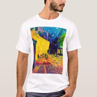 Vincent Van Gogh - Cafe Terrace At Night Pop Art T-Shirt