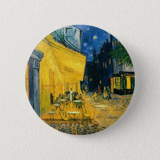 Vincent van Gogh   Cafe Terrace, Place du Forum 6 Cm Round Badge