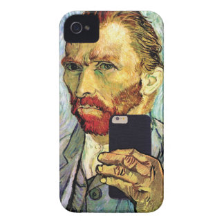 Vincent Van Gogh Cellphone Selfie Self Portrait iPhone 4 Case
