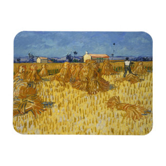 Vincent van Gogh - Corn Harvest in Provence Rectangular Photo Magnet