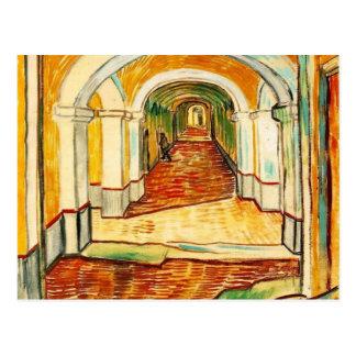 vincent van gogh - corridor in the asylum postcard