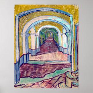 Vincent van Gogh Corridor in the Asylum Poster