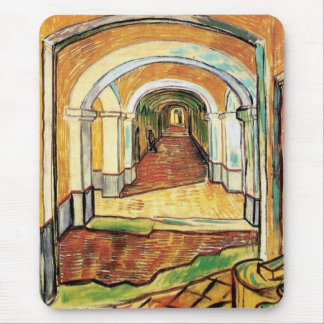 Vincent Van Gogh - Corridor Of Saint Paul Hospital Mouse Pad