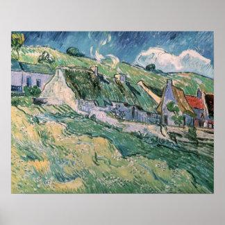 Vincent van Gogh | Cottages at Auvers-sur-Oise Poster