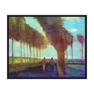 Vincent Van Gogh - Country Lane With Two Figures Canvas Print