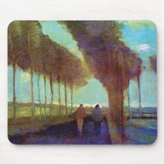 Vincent Van Gogh - Country Lane With Two Figures Mouse Pad