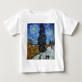 Vincent Van Gogh Country road in Provence by Night Baby T-Shirt