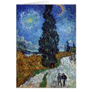 Vincent Van Gogh Country road in Provence by Night Card
